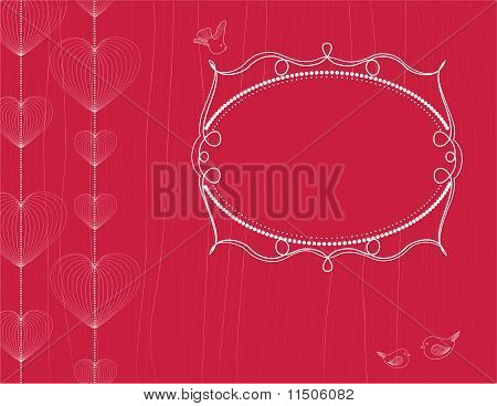 Hearts Background With Frame