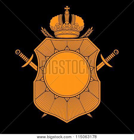 Vector coat of arms design template.