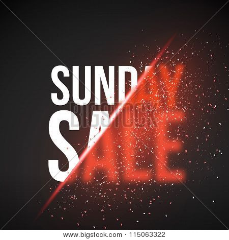 Sunday Sale Energy Explosion Concept Vector Illustration