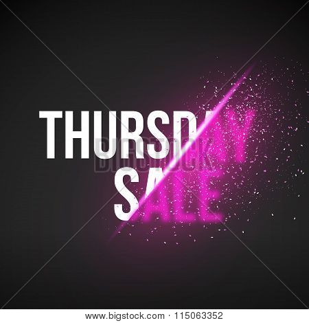 Thursday Sale Energy Explosion Vector Illustration