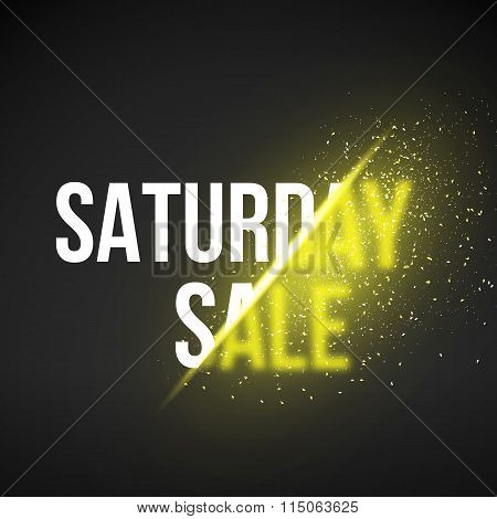 Saturday Sale Energy Explosion Vector Illustration