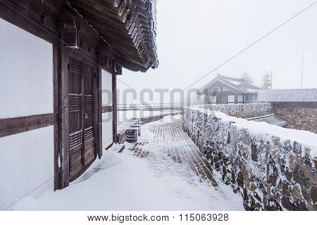 Winter Landscape White Snow Of Mountain In Korea.