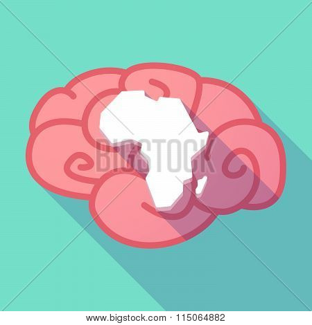 Long Shadow Brain With  A Map Of The African Continent
