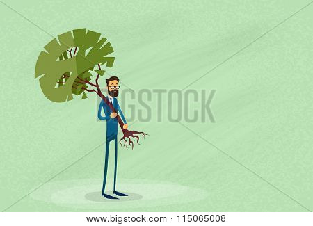 Businessman Holding Green Tree Environmental Protection