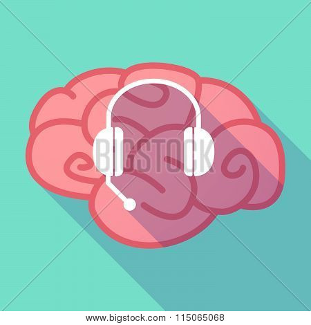 Long Shadow Brain With  A Hands Free Phone Device