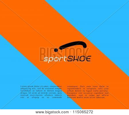 stylish modern shoe logo