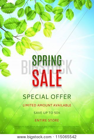 Design Of The Flyer Of Spring Sale