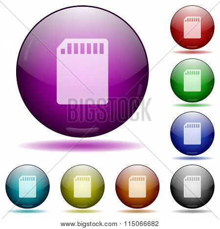 Sd Card Glass Sphere Buttons