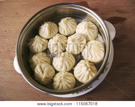 Chinese dim sum snack bun