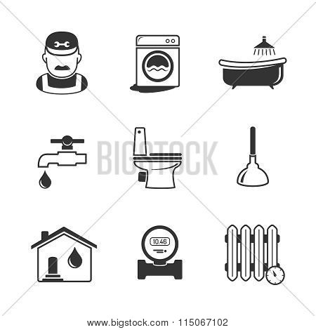 Plumbing And Engineering Linear Icons