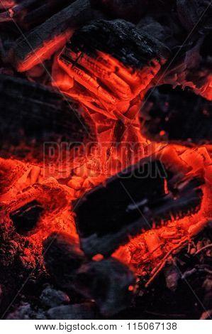 Red Burning Coals
