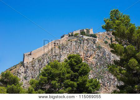 Palamidi fortress on the hill, Nafplion