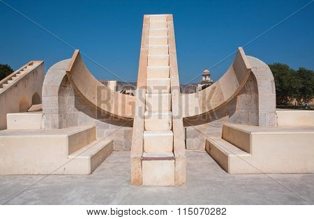 Astronomical Instrument Rashivalaya Yantra, Jantar Mantar. Unesco World Heritage Site