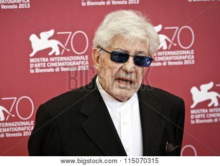 VENICE, ITALY - SEPTEMBER 06: Ettore Scola attends 'Che Strano Chiamarsi Federico - Scola Racconta Fellini' Photocall during the 70th Venice Festival at Palazzo on September 6, 2013 in Venice, Italy.