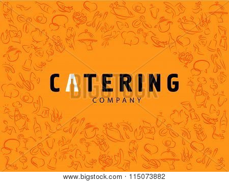 Vector template of catering company logo.