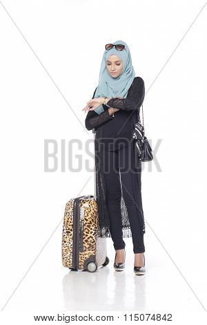 Fashionable Muslimah Woman
