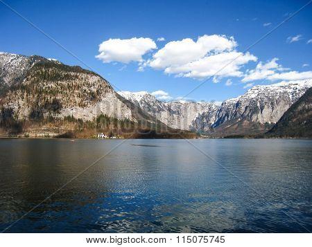 Hallstatt Mountain Lake In Austria