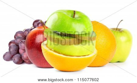 Fruits (apple, Grape, Grapefruit, Orange, Kiwi)