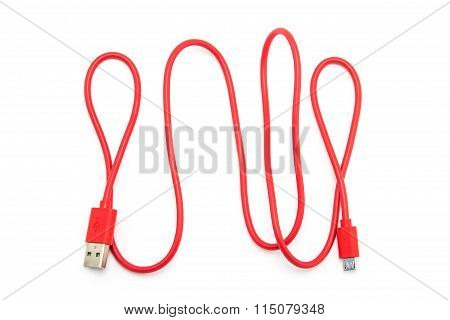 Red Usb Cable Plug