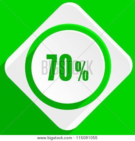 70 percent green flat icon