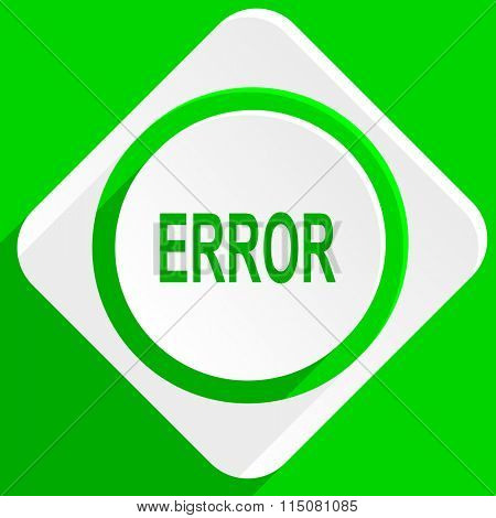 error green flat icon