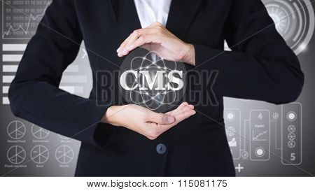 Business women holding posts in cms.