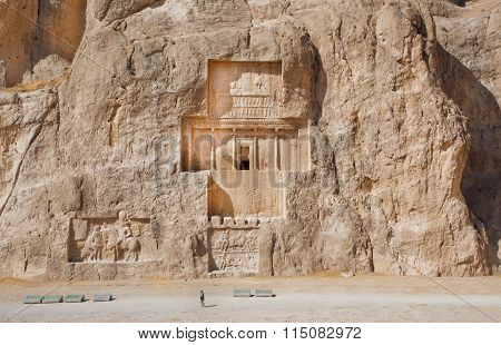 Iran. Relief At Naqsh-i Rustam Dates To 1000 Bc.