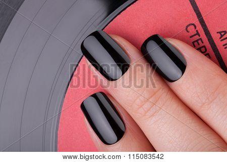 Very black nails