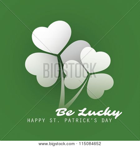 St Patrick's Day Card Background Template Design - Be Lucky