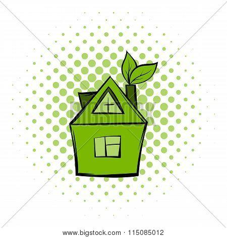 Eco house comics icon