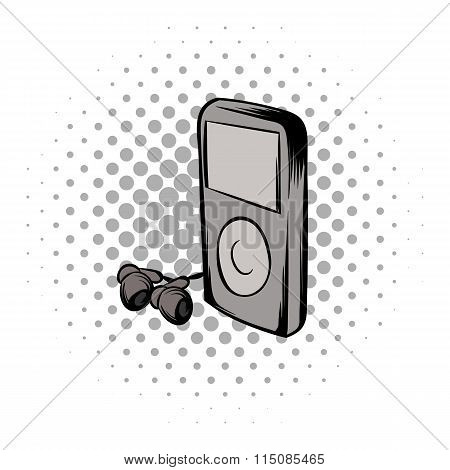 Mp3 player comics icon
