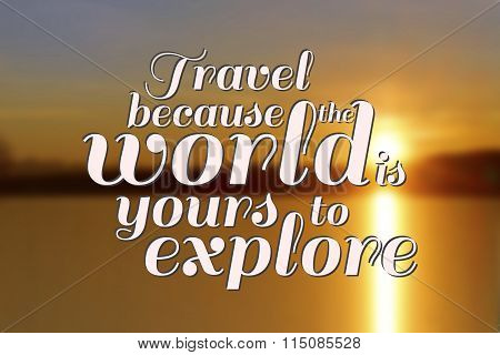Travel Quote on ocean background