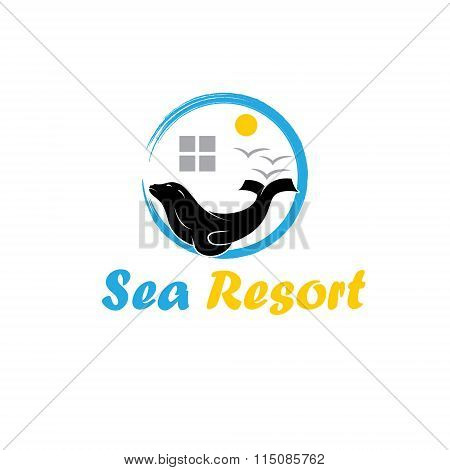 Sea Resort Illustration
