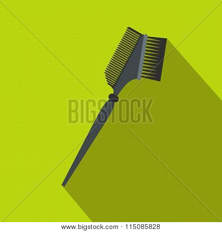 Bilateral comb flat icon with shadow