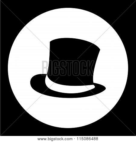 Simple Man Cylinder Hat Black Icon Eps10