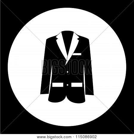 Simple Modern Jacket Suit Black Icon Eps10