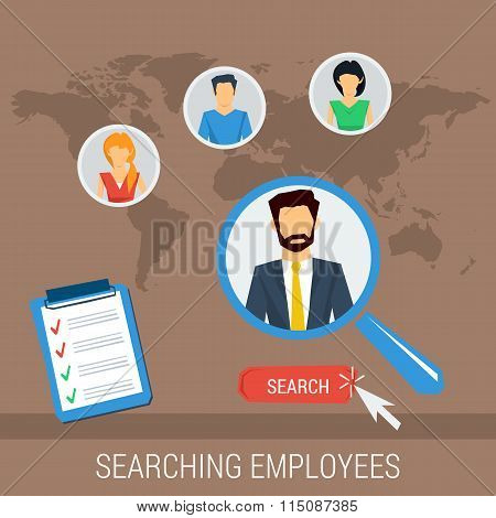 Vector concept searching employees