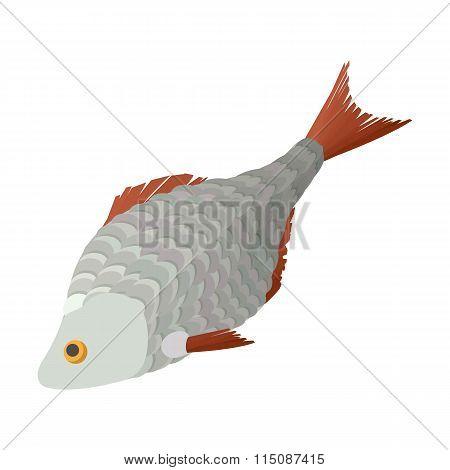 Dry fish cartoon icon