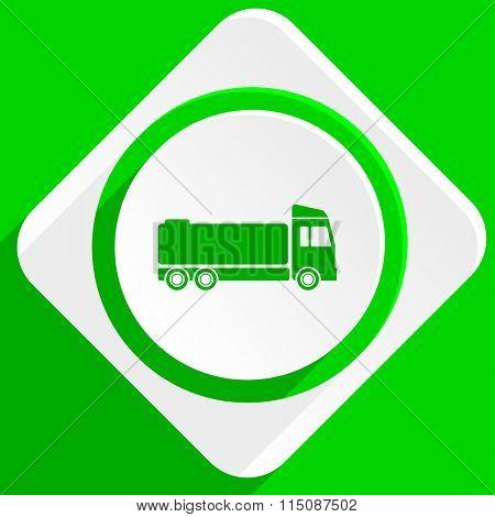 truck green flat icon