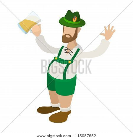 Man in leprechaun costume cartoon icon