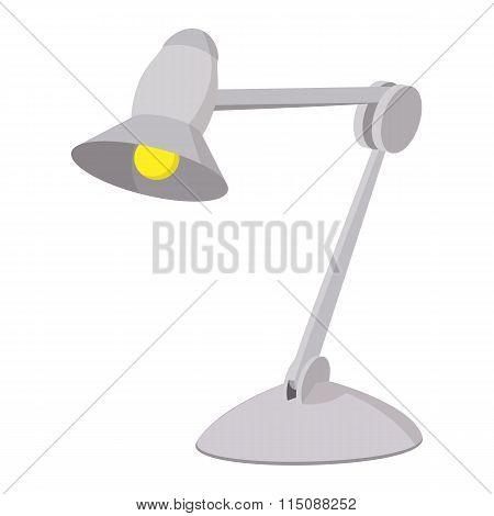 Desk lamp cartoon icon