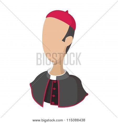 Cardinal, catholic priest cartoon icon