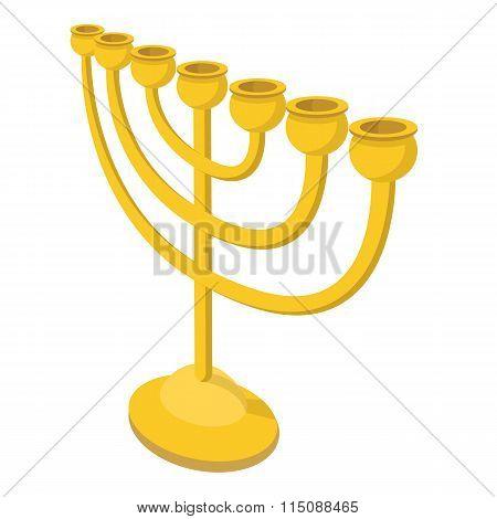 Menorah for Hanukkah cartoon