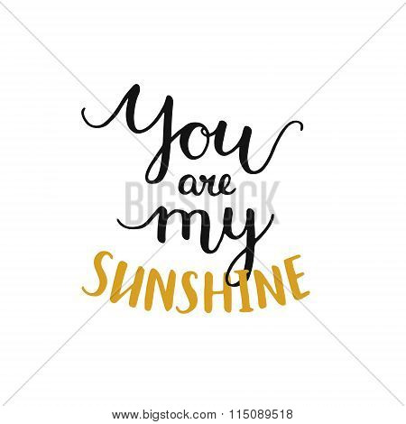 You are my sunshine, romantic card
