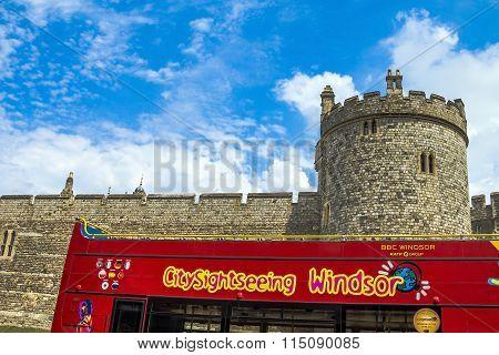 Lower Ward In Medieval Windsor Castle. Berkshire. Uk