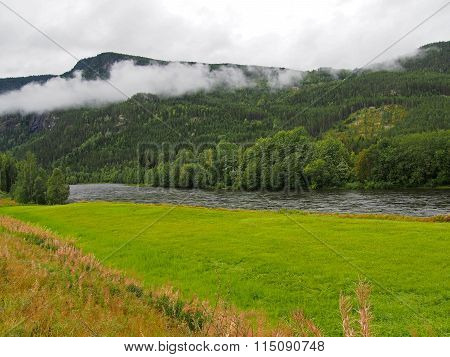 Landscape wiew of nature in Norway summer traveling