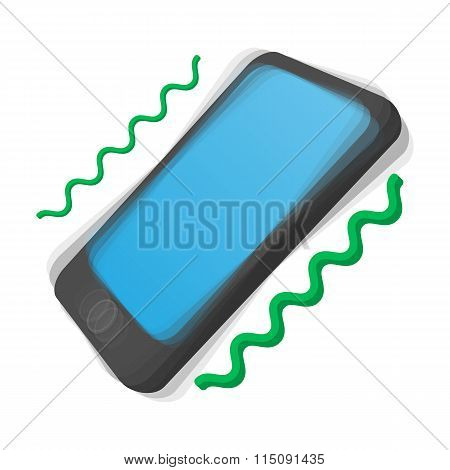 Smartphone vibrating cartoon icon