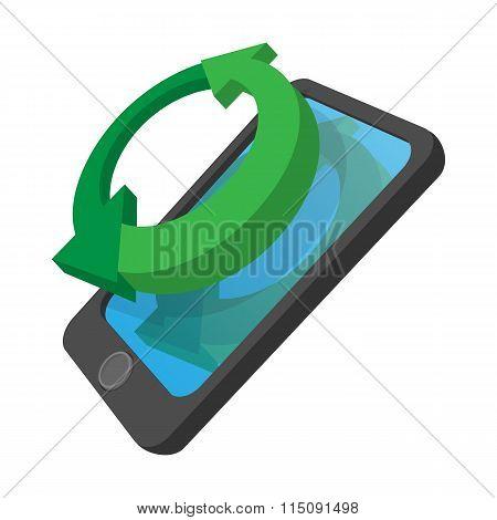 Smartphone refresh reload cartoon icon