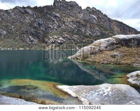Laguna Churup In Cordillera Blanca In Peru