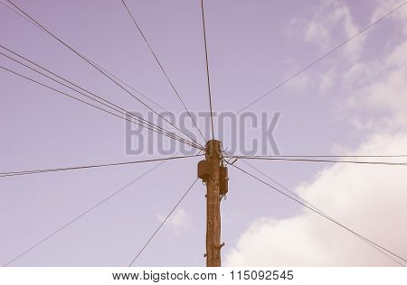 Telecommunications Pole Vintage